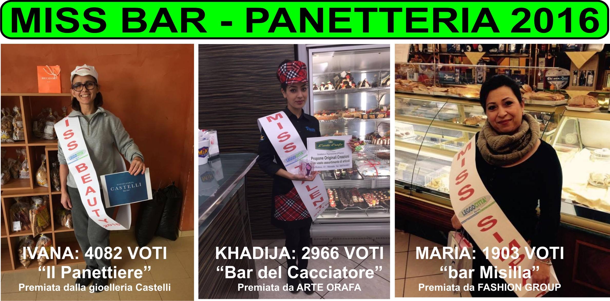 """Si è conclusa la prima edizione di """"MISS Bar – Panetteria"""""""