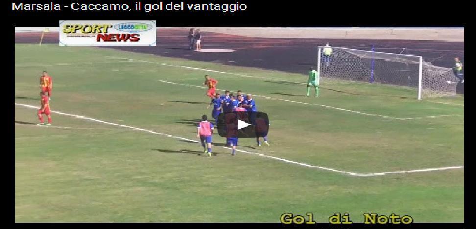 Marsala – Caccamo: tabellino e gol vincente