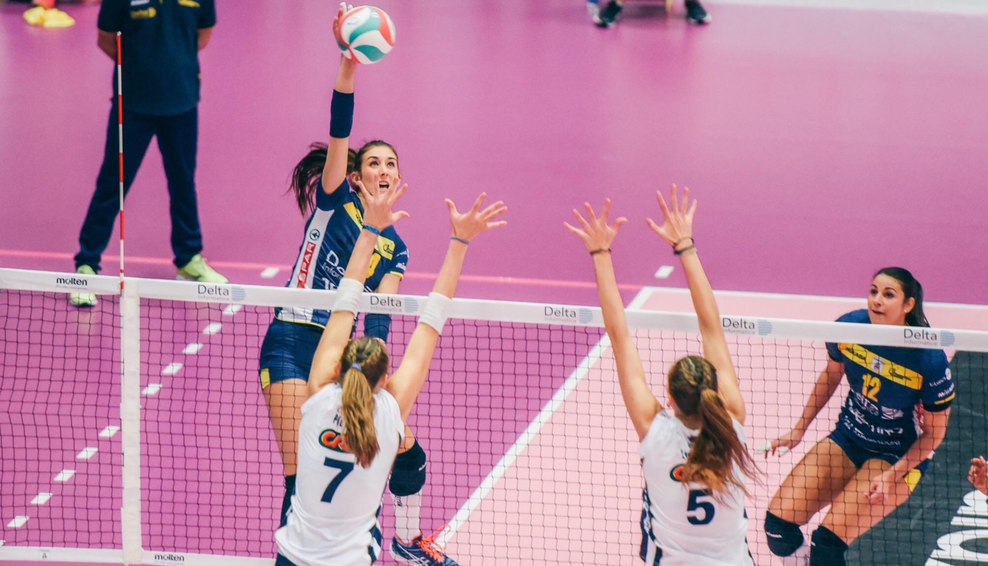 Volley: Delta Informatica (TN) – Sigel Marsala 3-2