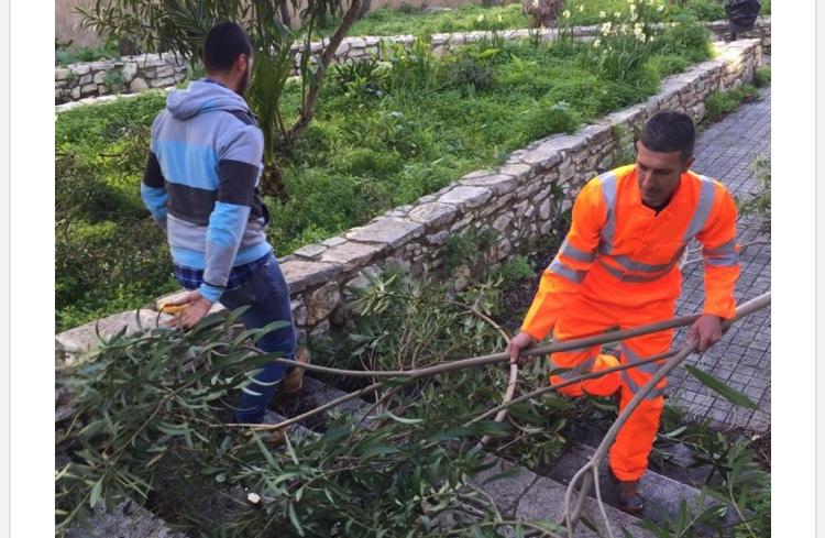 Cittadini con disagio economico al lavoro per la pulizia di aree verdi