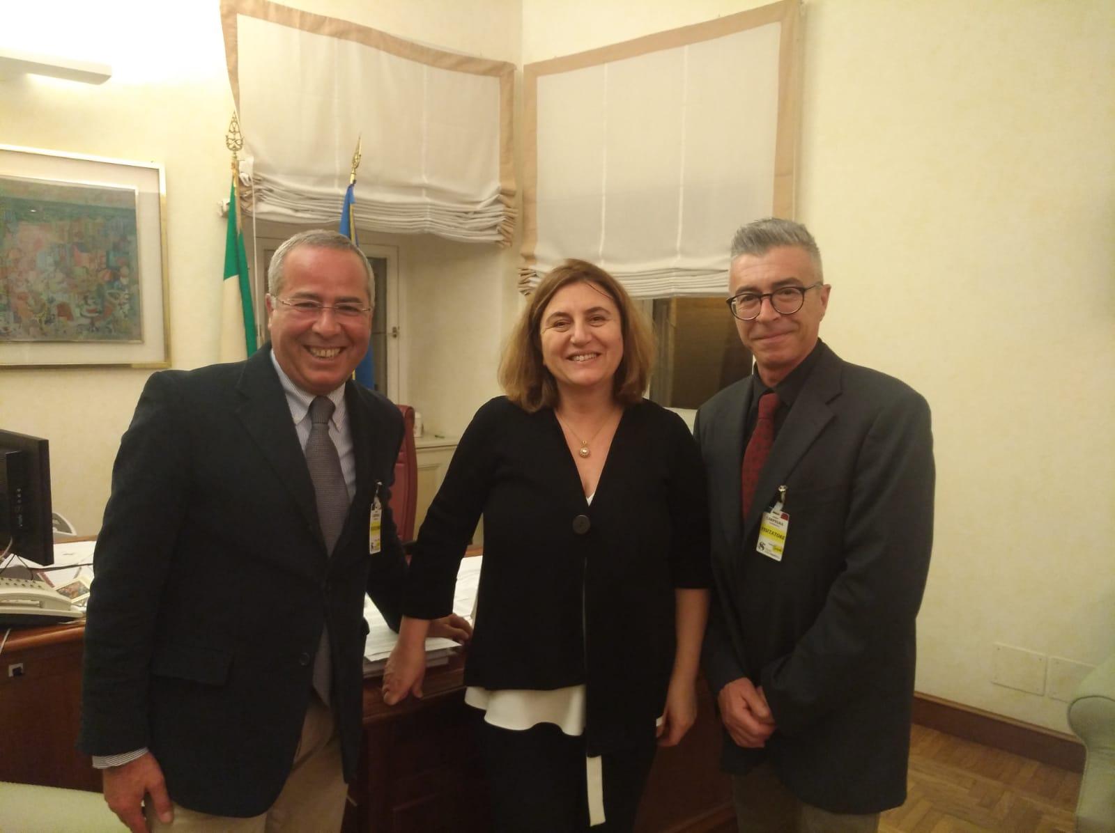 La senatrice Nunzia Catalfo incontra i rappresentanti di Dacca S.p.A.