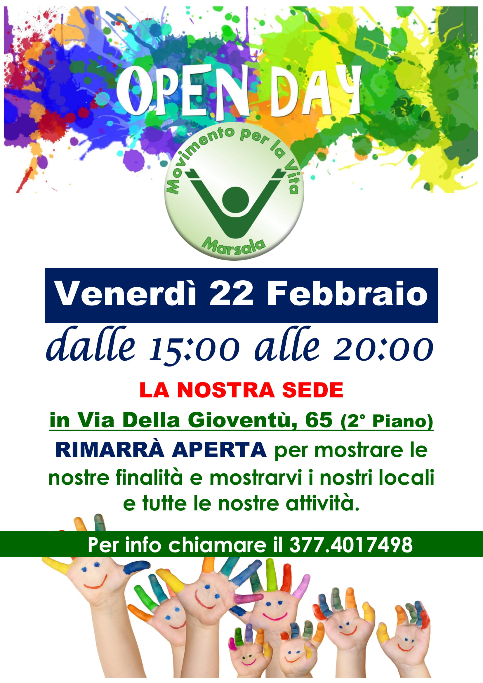 "Open day ""Movimento per la Vita Onlus Marsala"""